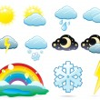 Set of weather icons — Stock Vector #1885442