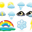 Stock Vector: Set of weather icons