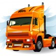 Super truck high detailed vector — Stock Vector