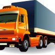 Royalty-Free Stock Vector Image: Great detail cargo truck vector 01