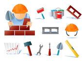Set of builders tools #02 — Stock Vector