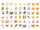 54 detailed web icons — Vector de stock