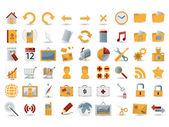 54 icônes web détaillé — Vecteur