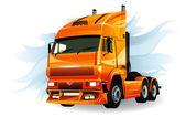 超级卡车高详细的矢量 — 图库矢量图片