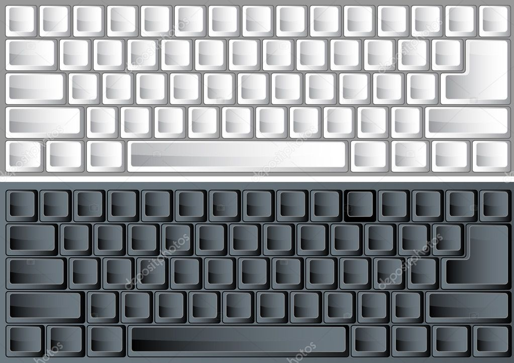 Black and white vector keyboards for any layout — Stock Vector #1885299