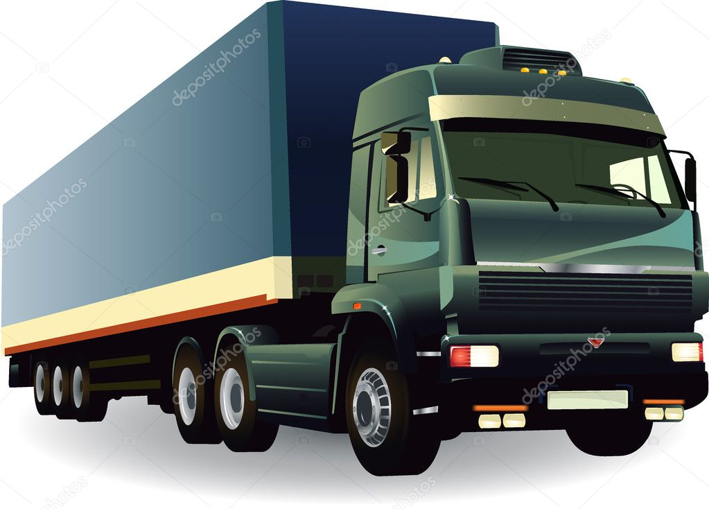 Great detail cargo truck vector 02 — Stock Vector #1885690