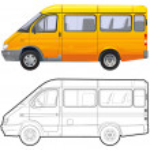 Detailed vector passenger minibus — Stock Vector #1926787