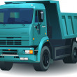 Great detailed dumper truck 06 — Stockvectorbeeld