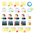Professional icon set web and mail — Stock Vector