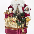 Santa in basket - Stock Photo