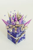 Violet gift box — Stock Photo