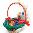 Stock Photo: Basket gift