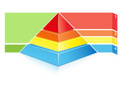 Detailed layered hierarchical pyramid — Stock Vector
