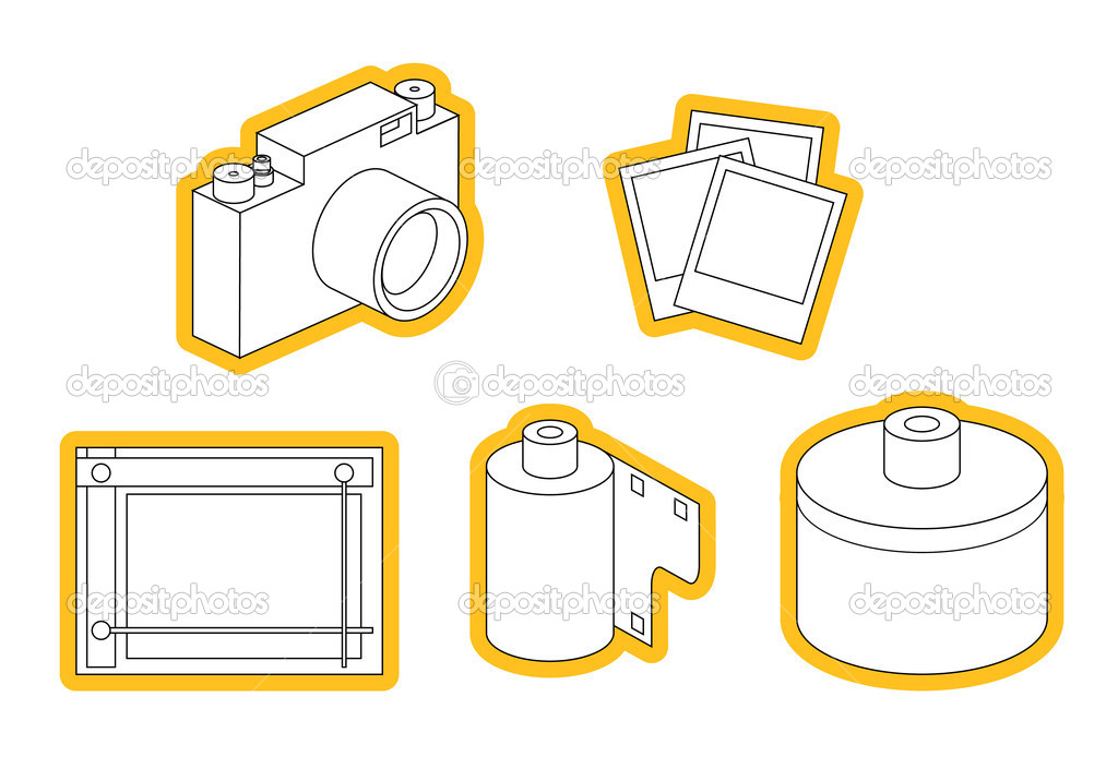 icon set of photo equipment — Stock Vector #2435264