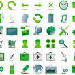 Set of 54 green web icon — Stock Vector