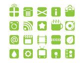 Set of mono color web icons — Stock Vector