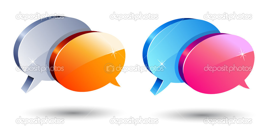 Set of shiny communication balloons — Stock Vector #2458057