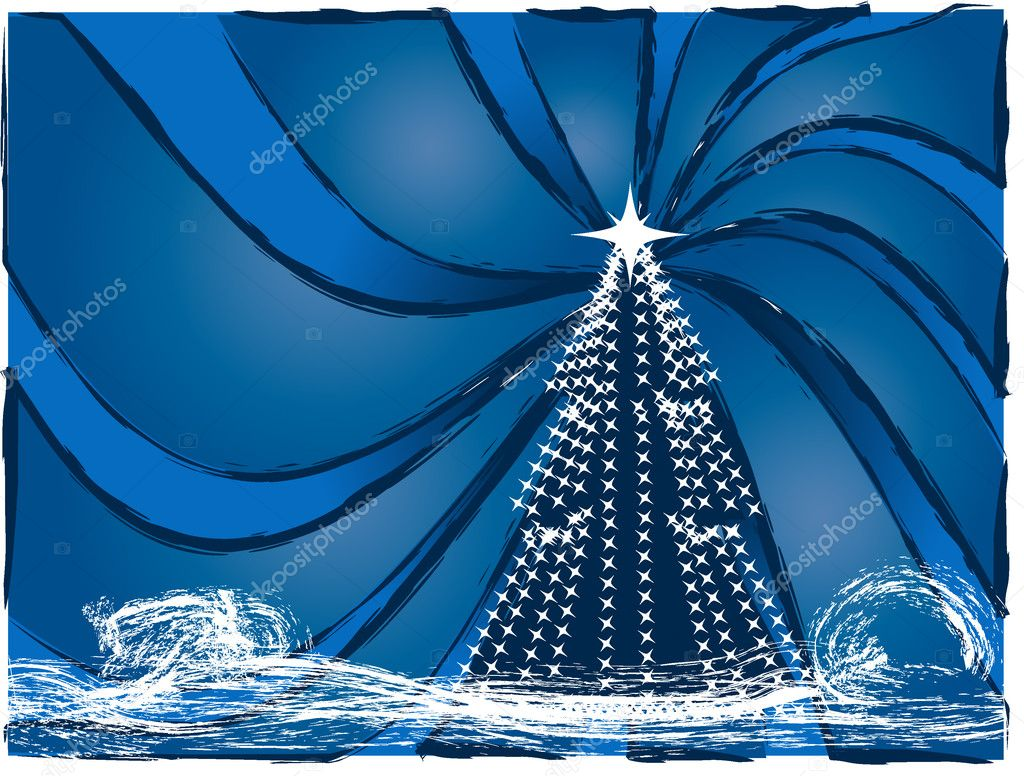 Christmas and New Year's background — Stock Vector #1410614