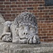 Lion made of stone — Stock Photo