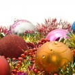 Group of Christmas decoration balls — Stock Photo