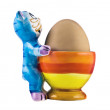 Funny eggcup - Stock Photo