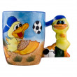 Creative cup with ducks — Stock Photo #1359355