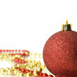 Christmas Decoration - colorful red ball — Stock Photo