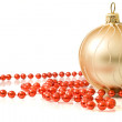 Christmas - single decoration ball — Stok fotoğraf