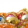 Stock Photo: Christmas greeting - group of balls