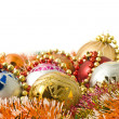 Christmas greeting - group of balls — Stock Photo