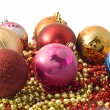 Christmas decoration - group of balls — Stock Photo