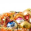 Stockfoto: Christmas greeting - decoration balls