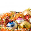 Стоковое фото: Christmas greeting - decoration balls