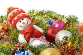 Christmas greeting - Lovely snowman — Stock Photo