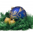 Three Beautiful Christmas balls - Stock Photo