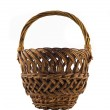 Small woven basket for food isolated — Stock Photo #1361145