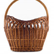Big Wicker woven basket over white — Stock Photo #1361731