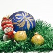 Plush Christmas toy - Stock Photo