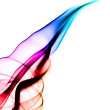 Gradient colored fume abstract shape — Stock Photo