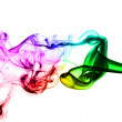 Colored Abstract Smoke over white — Stock Photo