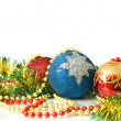 Christmas Decoration - colorful tinsel — Stok fotoğraf