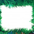 Christmas Colorful tinsel frame — Stok fotoğraf