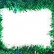 Christmas Colorful tinsel frame - Stock Photo