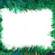 jul färgglada tinsel ram — Stockfoto