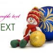 Christmas card - decoration toy — Stock Photo #1365991