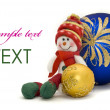 Christmas card - decoration toy — Stock Photo