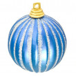 Christmas - blue decoration ball — Stock Photo
