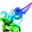 Beautiful colored Abstract smoke — Stock Photo