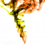 Resumen forma humo coloreado — Foto de Stock