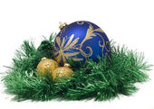 Three Beautiful Christmas balls — Stock Photo
